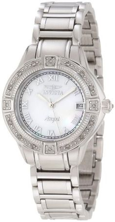 Invicta Women's 12804 Angel Mother-Of-Pearl Dial Diamond Accented Watch Invicta http://www.amazon.com/dp/B00962GYNU/ref=cm_sw_r_pi_dp_jF22ub1RFP8WC