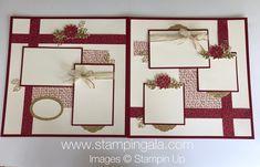 Classy layout Christmas Scrapbook Layouts, Scrapbook Designs, Scrapbook Sketches, Scrapbook Paper Crafts, Scrapbooking Layouts, Scrapbook Templates, Paper Crafting, Wedding Scrapbook, Baby Scrapbook