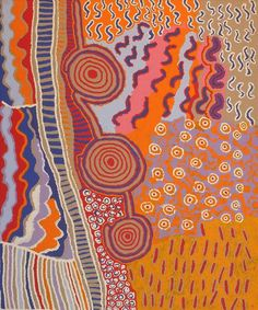 Mina Mina Jukurrpa (Mina Mina Dreaming) -  Ngalyipi by Mary Napangardi Gallagher