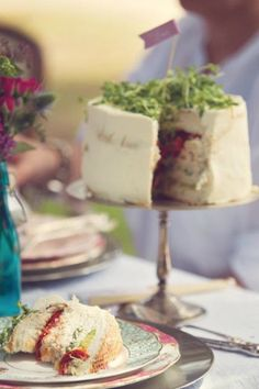 Amazing Sandwich Layer Cake | Mrs A in The Cove