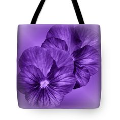 "Pansy Purple Tote Bag 18"" x 18"""