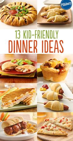 Weekend dinner is easy with these kid-friendly ideas! The whole family will love how delicious these recipes are and you'll love how quick they are to make. From our Taco Crescent Ring to our Chicken Pot Pie Crescent Ring, you'll find simple recipes to tr Easy Dinner Recipes, Simple Recipes, Healthy Recipes, Healthy Food, Simple Meals For Two, Dessert Recipes, Healthy Kids, Healthy Desserts, Healthy Meals