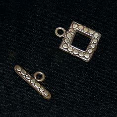 Bali Sterling Silver .925 Toggle Clasp Closure by SilverRosesJewelry on Etsy