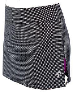 JoFit Tennis Skort with Micro-Dot print and Dizzy undershorts Womens Golf Wear, Womens Golf Shoes, Girls Golf, Ladies Golf, Tennis Workout, Golf Outing, Golf Attire, Tennis Skort, Golf Skirts