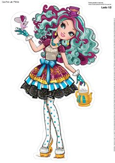 Centro de Mesa ever after high madeline hatter 1--1