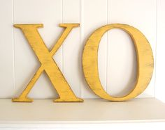 Photo Booth prop photobooth guest book XO shabby cottage chic yellow. $60.00, via Etsy.