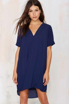 Power Shift Chiffon Dress