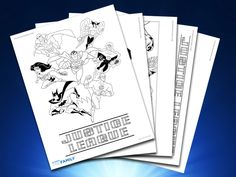 Enjoy these Justice League printable pages, perfect for weekend family fun.