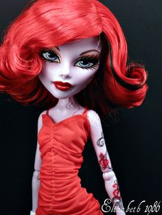 Look at her tattoos!  by Elizabeth 1986 Monster High OOAK