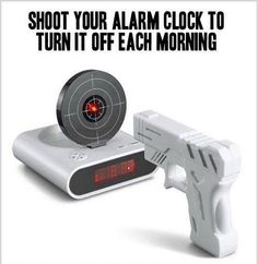 Target practice alarm clock ... so awesome!