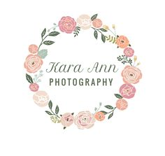 photography logo / photo branding / photography brand / flower / vintage / blog…