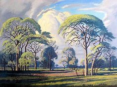 Bushveld landscape painting by Jacobus Hendrik Pierneef South African Art, Art Galleries in South Africa, South African Artists Photograph by Gunther Stephan. Famous Visual Artist, Landscape Art, Landscape Paintings, Abstract Paintings, Oil Paintings, Illustrations, Illustration Art, African Tree, Afrique Art