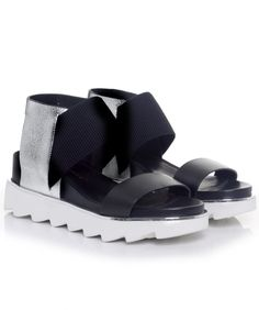 United Nude Metallic Rico Strap Sandals