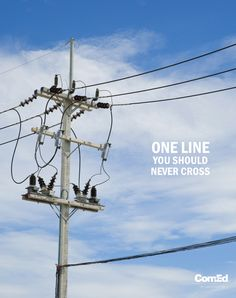 Always be aware of your surroundings and remember to look up and watch out for power lines. #ComEdSafety