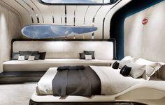 Introducing the Bugatti Niniette A next generation sport yacht by Palmer Johnson for Bugatti. An inspired and daring design that evolves from the distinctive Bugatti Chiron. Luxury Yacht Interior, Car Interior Design, Luxury Yachts, Big Yachts, Boat Interior, Palmer Johnson Yachts, Sport Yacht, Bugatti Cars, Ferrari