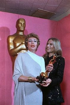 """Eileen Heckart - Best Supporting Actress Oscar for """"Butterflies Are Free"""" (1972) with Cloris Leachman"""