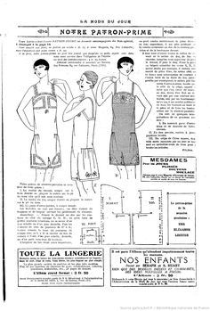 A pattern for cami-knickers. I'm beginning to think the 1920's fashion was all variations of one dress.