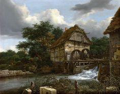 Рейсдаль Якоб Исакс ван (1628-29 Харлем - 1682 Амстердам) - Водяная мельница…