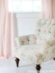 Soft Whisper Linen Curtain Panels in Pink