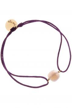 purple lace bracelet with achat I designed by senzou I NEWONE-SHOP.COM