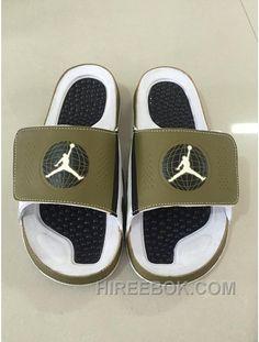 864d78a0abe50b Mens Jordan Hydro 9 Slide Sandals Militia Green White Blck Cheap To Buy  Y3ZcRT