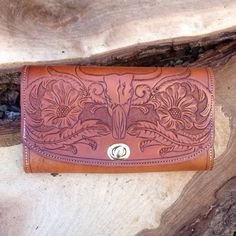 Tooled Leather Clutch by 76andRiveted on Etsy https://www.etsy.com/listing/263805798/tooled-leather-clutch