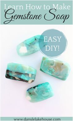 Easy DIY Gemstone Soap Tutorial with Step by Step Photos. Learn How to Make Easy Gem Shaped Soap Rocks with Organic Glycerine Base. Makes a Great Handmade Gift Idea and Fun for Kids Too! Check out Dans le Lakehouse for Other Homemade Soap Ideas. How To Make Diy, Make It Simple, Soap Tutorial, Homemade Soap Recipes, Homemade Cards, Handmade Soaps, Diy Soaps, Handmade Headbands, Handmade Rugs