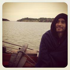 """OMG i smiled"" @jaredleto on the MARS sailing trip #marsinfinland"