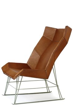 Looks like a melted chocolate bar, -François Azambourg Funky Furniture, Design Furniture, Unique Furniture, Chair Design, Eames Chairs, Lounge Chairs, Ottoman, Take A Seat, Occasional Chairs
