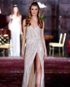 Julie Vino Fall 2017 Wedding Dress Collection | Martha Stewart Weddings – Sleeveless sheath wedding dress