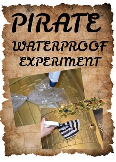 Protect the pirate coins - waterproofing activity #scienceforkids #piratescience #waterproofexperiments