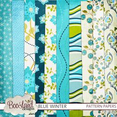 Blue Winter Pattern Paper Pack