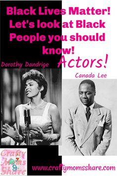 Black Actors: Dorothy Dandridge & Canada Lee Carl Lee, Harry Belafonte, Dorothy Dandridge, Black Actors, Cotton Club, Grace Kelly, Black People, Black History