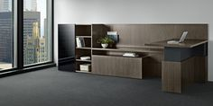 Credentials Wood Office Furniture Casegoods Gunlocke Like the way the low cabinets provide an extra surface for users that like to put their work in piles.  Also the desk return provides the option to work in a standing position.