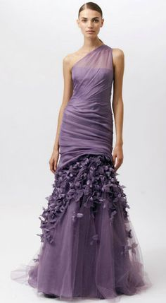 purple monique lhuillier mermaid gown #sephoracolorwash