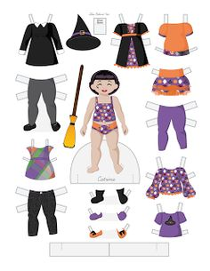 Paper Doll School: Halloween Toddler Fashion Friday - Catrina