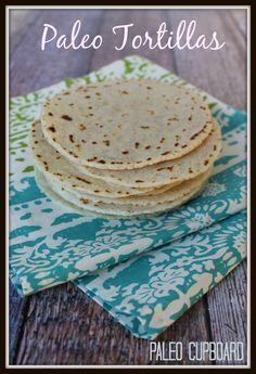 Paleo Tortilla Recipe - www.PaleoCupboard.com