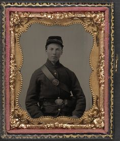 (c. 1861-1865) Private Nathaniel Shoup of Co. C, 84th Pennsylvania Infantry Regiment