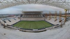 Image of Arena São Paulo, São Paulo (SP), site of the opening game of the FIFA World Cup 2014. Second half of July 2013. Credit: Arena.