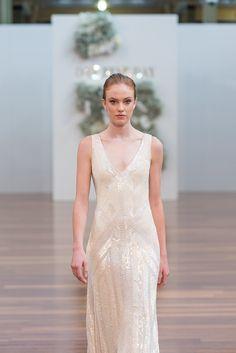 Karen Willis Holmes wedding gowns on the runway.