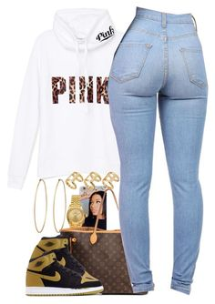 """Untitled #1369"" by power-beauty ❤ liked on Polyvore featuring mode, Rolex, Victoria's Secret PINK, Louis Vuitton, ASOS, Social Anarchy en NIKE"