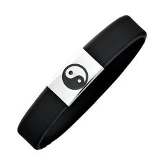 Caoutchouc Yin & Yang Bracelet €20.00 Harmony for all ages – the Caoutchouc Yin & Yang Bracelet will captivate you with its comfortable and skin-friendly stainless steel. Thanks to the claspless design, it always fits perfectly and is therefore perfectly suited for kids and teens. Following the principal of Yin and Yang - the principal of balance and harmony - these opposites are united together.