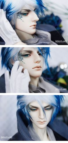 #bjd sexy blue and white haired young man dmm:
