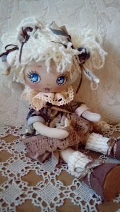 handmade doll - textile doll - home decor - toys - doll by TrixiCreation on Etsy