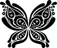 Vector of 'Beautiful butterfly tattoo'