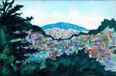 Watercolor of Potrero Hill