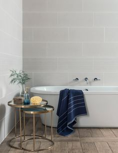With the current trend for unfinished walls and textured brick surfaces, Callow provides a fresh and clean sophisticated look, moving away from the darker palettes of the concrete-effect and into the brighter yet warm Scandi whites.  The hammered plasterboard effect tile, combined with the structured decor tile, offer an interesting take on the idea of stripped-back, unpainted, bare plaster. A softer way of leaning towards an industrial look.