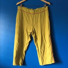 "Yellow PJ Capris Cute yellow pj pants 100% cotton  ✧NO Trades ✧View ""offer guide"" before making an offer  ✧View ""closet info"" for more Xhilaration Intimates & Sleepwear Pajamas"