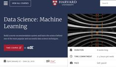🔥 Harvard has opened this free course on Machine Learning! Link to Enroll: Visit the below-given link to enroll the course Principal Component Analysis, Machine Learning Course, Speech Recognition, Certificate Programs, Free Courses, Data Science, Harvard, Link