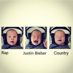 No hate for any music, we love it all! But Country Music rocks & this picture is hilarious! #CBMF2013